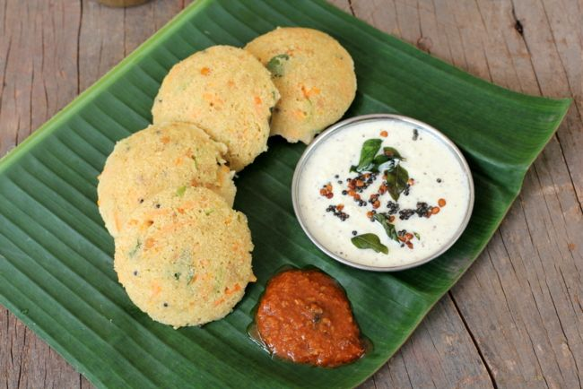 Instant Oats Idli - Indian Breakfast Recipe with Oats » All Recipes Indian Breakfast Recipes Indian Vegetarian Recipes Lunch Box Recipes South Indian Recipes Indian Food Recipes | Andhra Recipes | Indian Dishes Recipes | Sailu's Kitchen