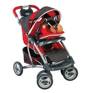 Tollytots Graco Doll Quattro Travel System Heatwave Red