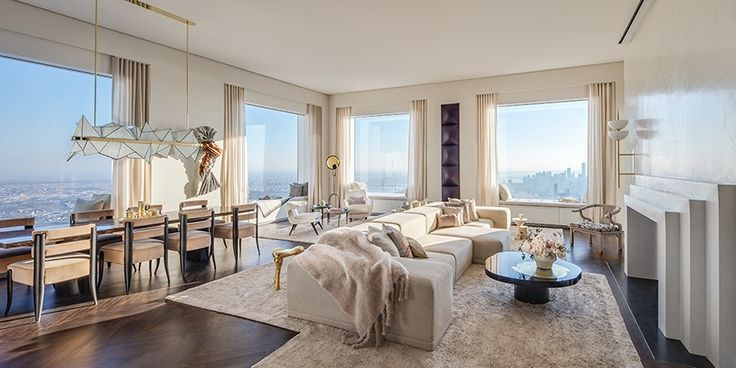located on the 92nd floor of the rafael viñoly-designed skyscraper '432 park avenue', the luxurious residence boasts a bespoke interior fit to be inside the tallest residential building in the western hemisphere.