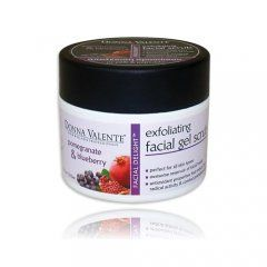 Pomegranate & Blueberry Exfoliating Facial Scrub 210gr. Available now at www.pharmeden.co.uk