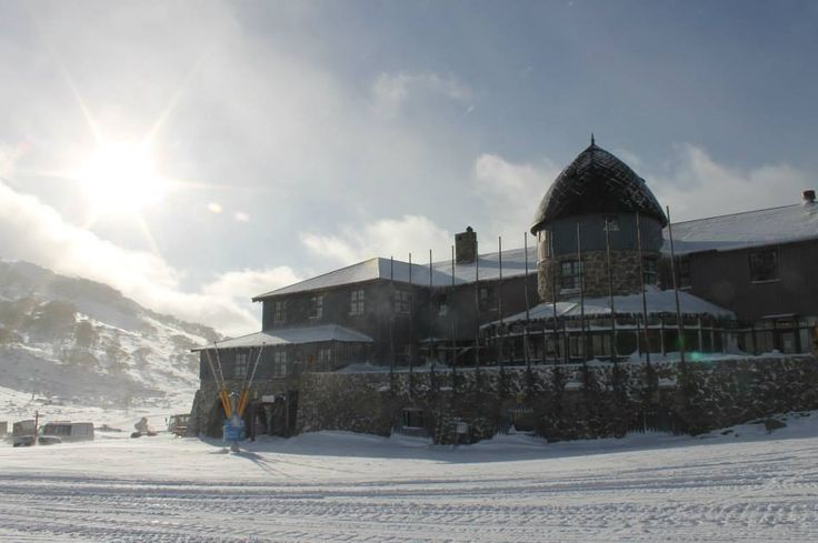 The historic Kosciuszko Chalet at Charlotte Pass snow resort in New South Wales, Australia. Ready for skiing and snowboarding #snowaus