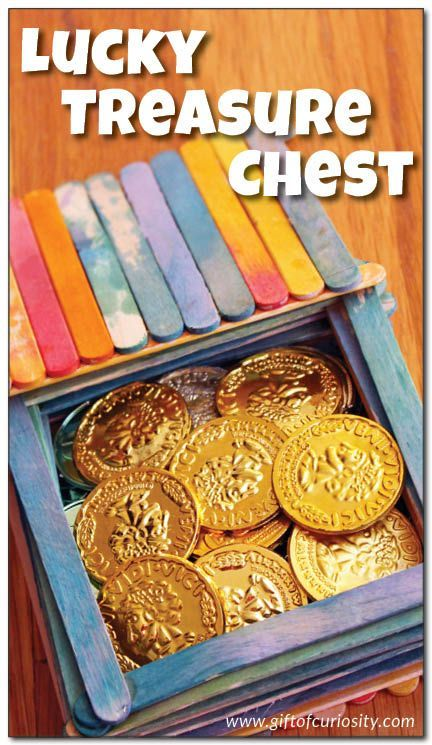 DIY Lucky Treasure Chest craft for kids. Let them make their own keepsake box for all their special little things! || Gift of Curiosity