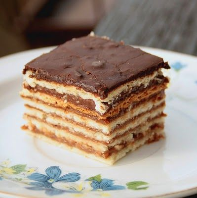 Zserbo! I usually make this for Christmas! However, Valentine's Day is almost here! I'm thinking I should make it again! What a yummy Hungarian pastry: filled with flaky layers of dough, ground walnuts and apricot jam!