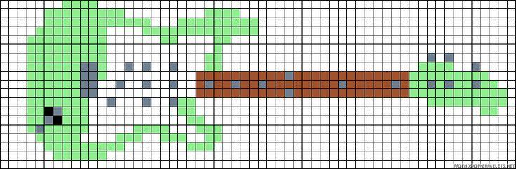 Electric guitar perler bead pattern