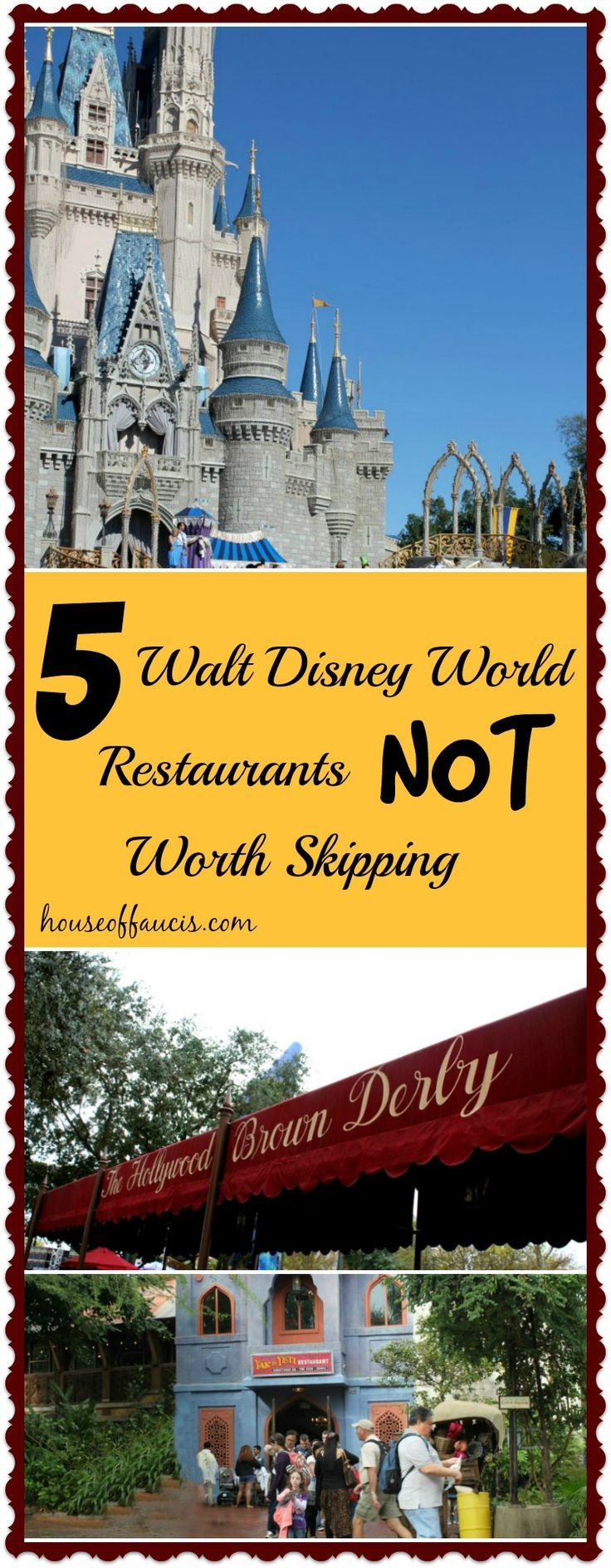5 Walt Disney World Restaurants NOT Worth Skipping