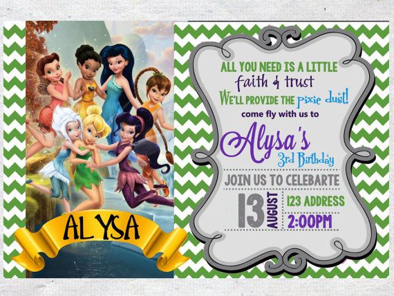 The 25 best Tinkerbell invitations ideas – Tinkerbell Party Invitation Ideas