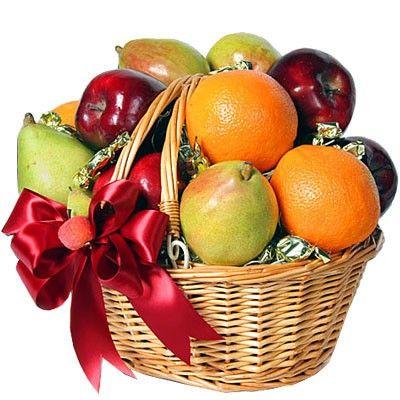 Подарочная корзина с фруктами. Бесплатная доставка по Москве http://www.dostavka-tsvetov.com/korziny-s-fruktami/bodroe-utro