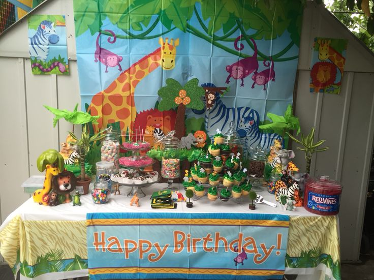 My safari candy table