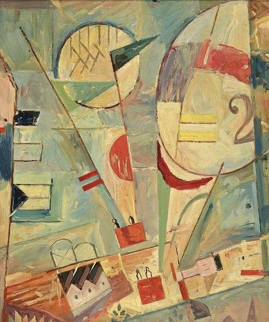 Ľudovít Fulla (Slovakia, 1902 - 1980) Balóny 1930