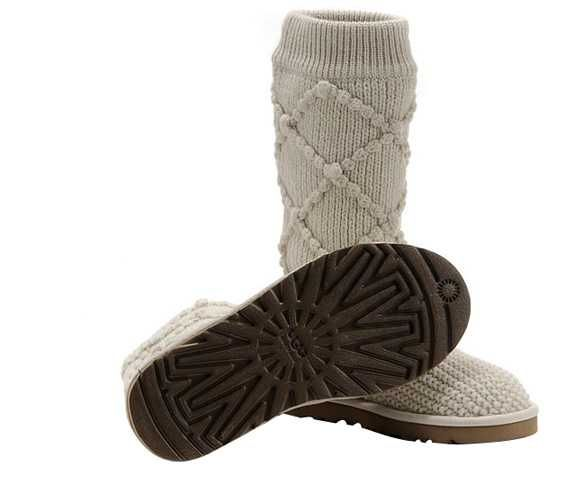 Cream Classic Argyle Knit UGG Boots.The Christmas promotion!  Our Price : $160.00 Sale Price :$96.99 Save: 39% off!!