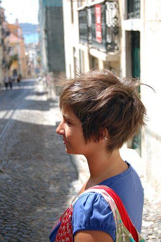 new short haircut, via Flickr.
