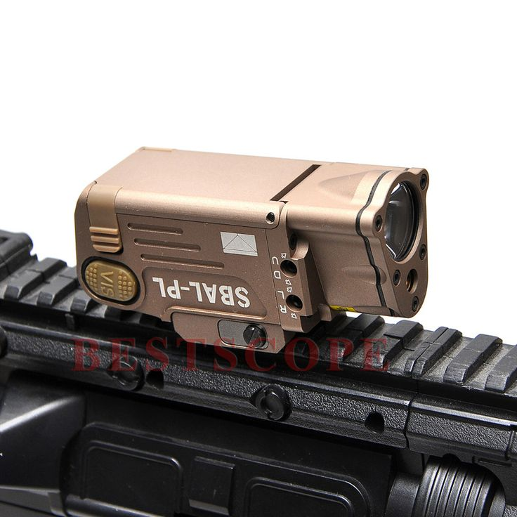 Tactical CNC Finished SBAL-PL LED Weapon Light With Red Laser Pistol/Rifle Flashlight Constant Momentary Strobe Flashlight