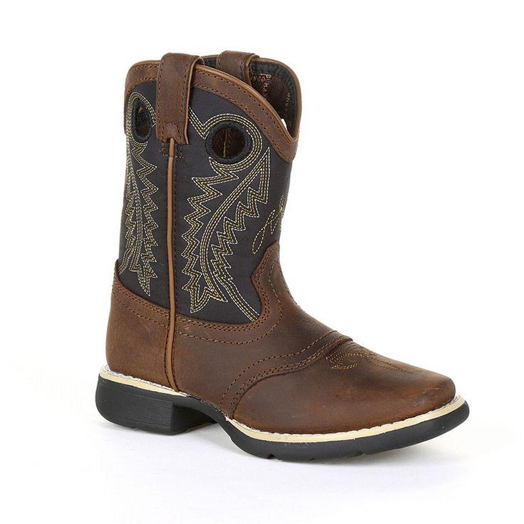 Lil Durango Black Saddle Kids Western Boots, Kids Unisex, Size: 5.5