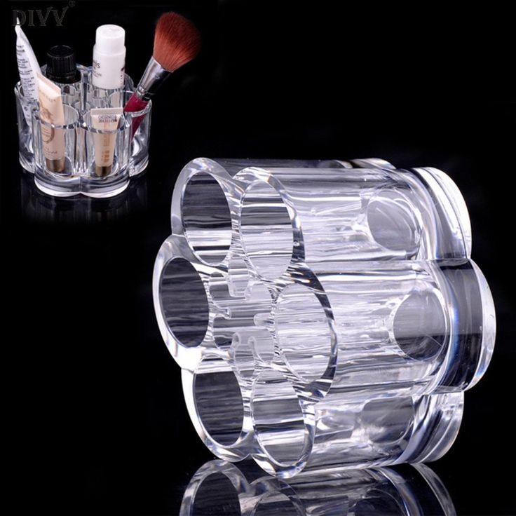 Cosmetic Box Plum Flower Clear Acrylic