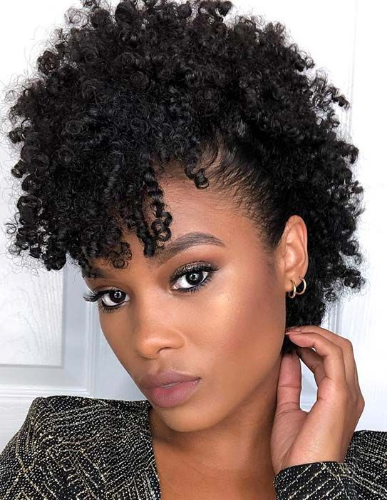 45 Beautiful Natural Hairstyles You Can Wear Anywhere | StayGlam | Natural hair styles, Curly hair styles, Natural hair styles for black women