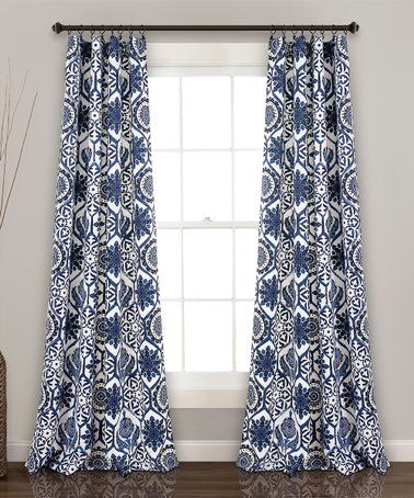 Love this Navy Marvel Room Darkening Curtain Panel Set on #zulily