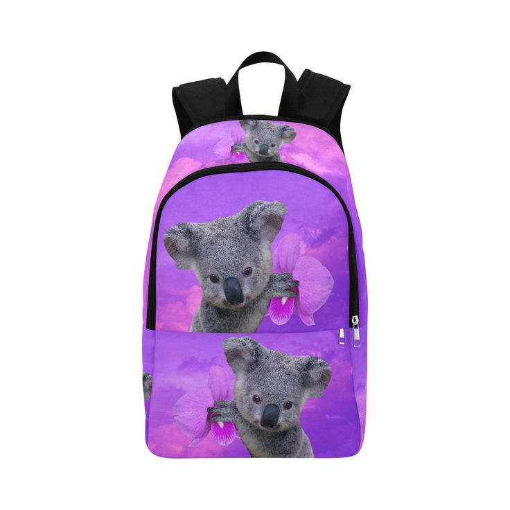 Koala and Orchids Fabric Backpack for Adult (Model 1659)