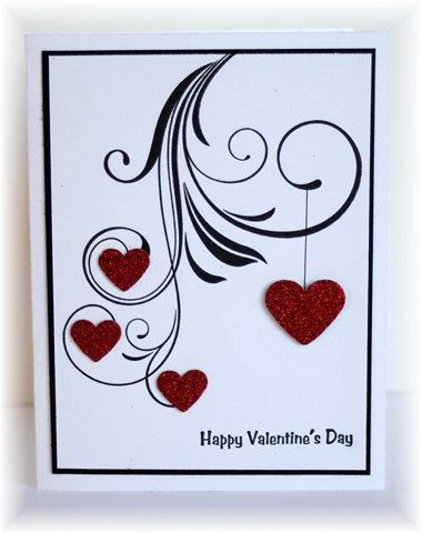 """1/28/2013; Becky at """"Scrappin' and Stampin' in GJ"""" blog; PTI flourish + glittered hearts"""
