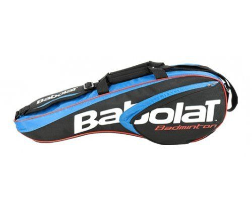 BABOLAT Badminton 4 Racquet Bag by Babolat. $43.65. The Babolat Racket Holder is a new addition to Babolat's range of Badminton Holdalls for 2012. The Bag is spacious enough to hold 4 badminton rackets and has plenty of room left over for personal accessories.Features:*1 shoulder strap*1 inside compartment*1 side pocket