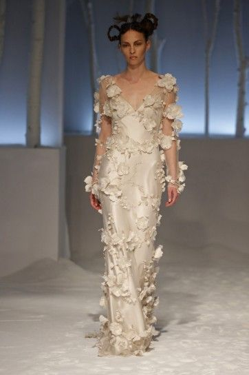 David Fielden Vestito da sposa champagne