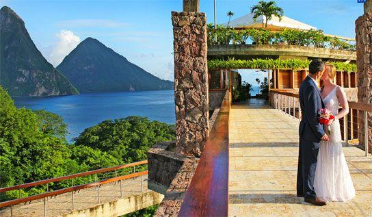 Jade Mountain St Lucia destination wedding