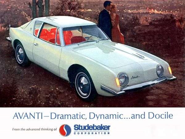 1964 Studebaker Avanti Ad, Scanned From August 1963 Car Life.