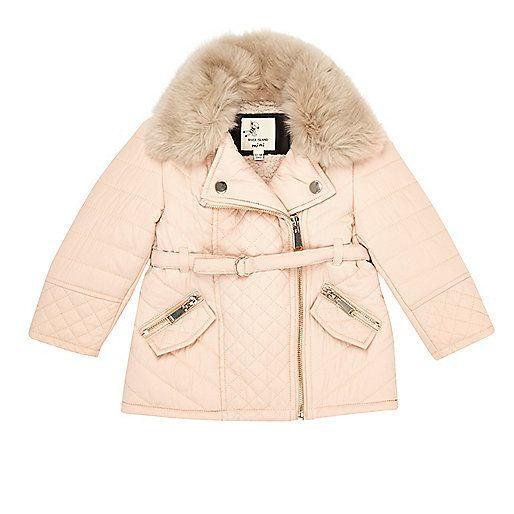 Mini girls cream faux fur padded jacket - baby girls coats / jackets - mini girls - girls