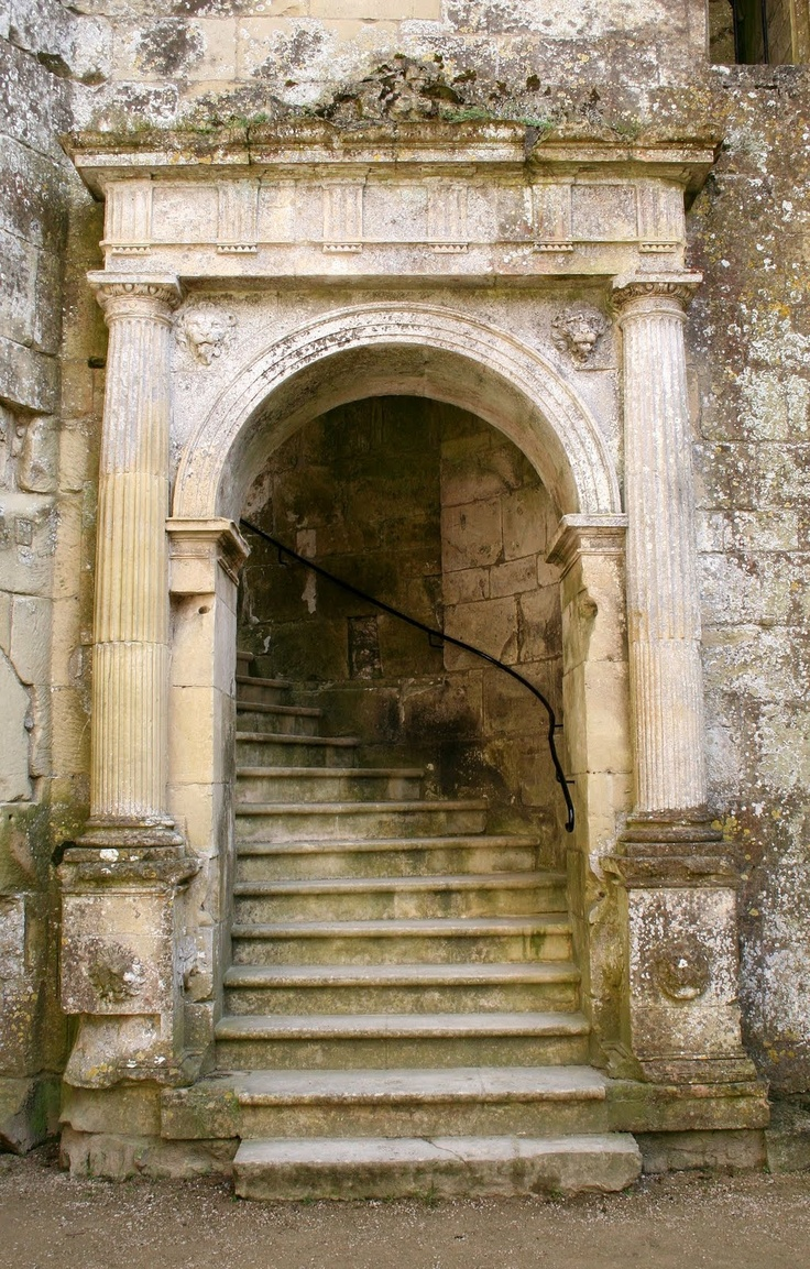Doorway at Wardour Castle, England. steps stairs stairways