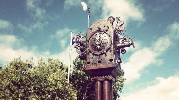 Boonah's new Blumbergville Clock.  * Visit Boonah which is a part of the Scenic Rim! Wonderful Country Stores to explore! #Boonah #ScenicRimTourism