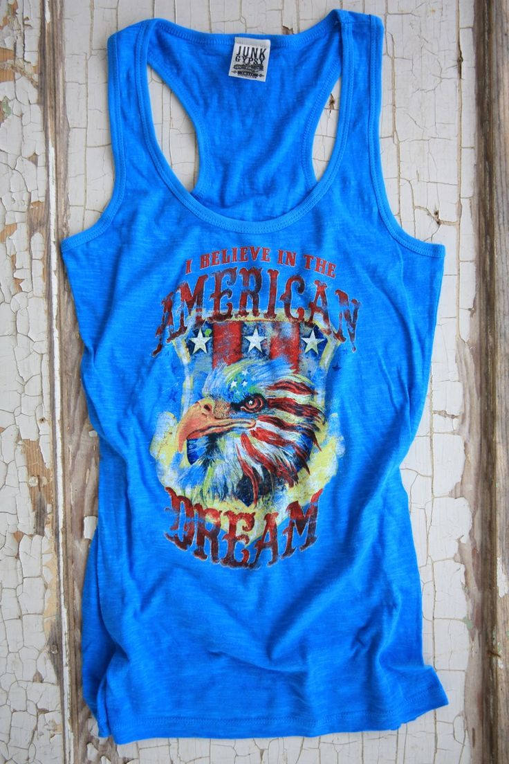 American Dream Turquoise Tank