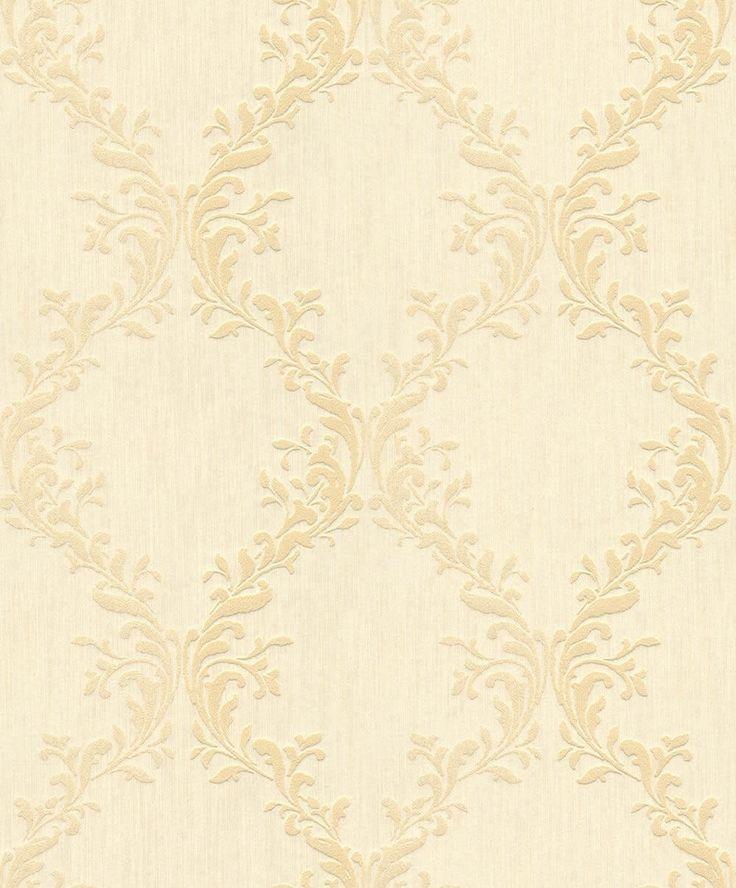 Rasch Textil Velluto 23-074832 Textiltapete gelb Esszimmer Barock Tapete