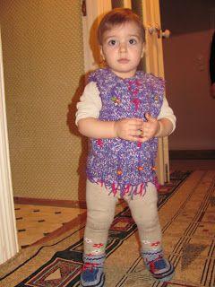 Bine ati venit pe blogul nostru. Va uram lectura placuta!: Bondiţă pentru fetiţă, tricotată din  aţa  calitat...