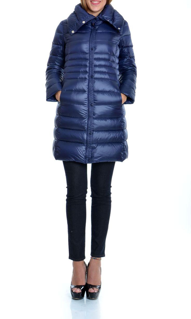 Trussardi Jeans | Piumino D'Oca Trussardi Jeans Donna Giubbotto Lungo Col. Blu - Shop Online su Dursoboutique.com 56S55