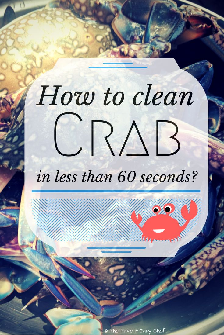 "How To Clean Crab? ""How do one clean a crab? They look so difficult to cut and clean that most crab lovers are petrified at the thought!"" Not anymore! This article will show the easiest way to clean a crab in under a minute."