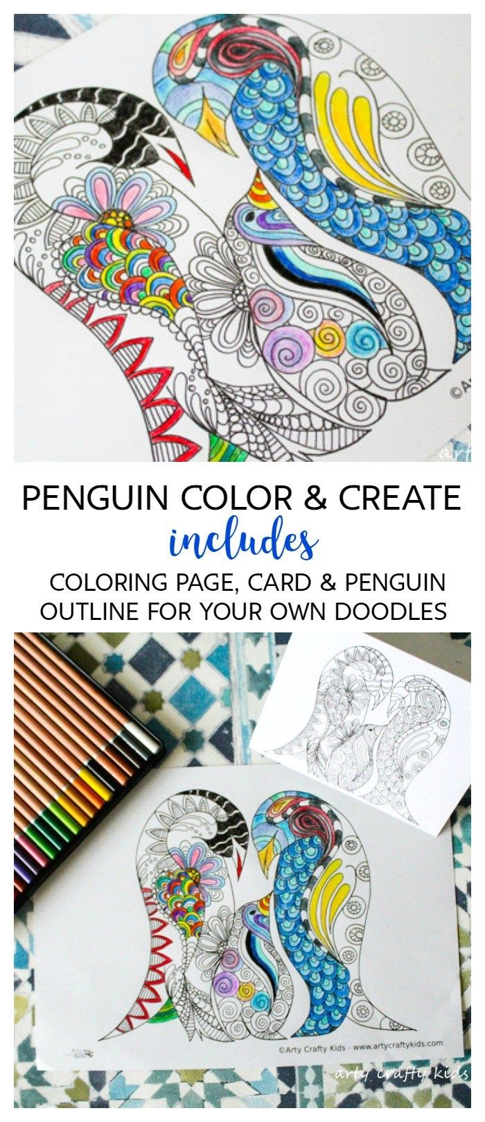 The zoology coloring book - Arty Crafty Kids Coloring Pages Penguin Color And Create Page Free Penguin Coloring