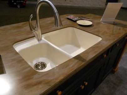 corian   DuPont  39 s Corian solid surface with seamless  integrated sink. 78 Best images about                  on Pinterest   Samsung  Taps