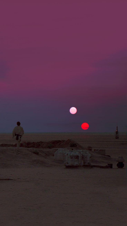 Star Wars Binary Sunset iPhone 6 Wallpaper (750x1334)
