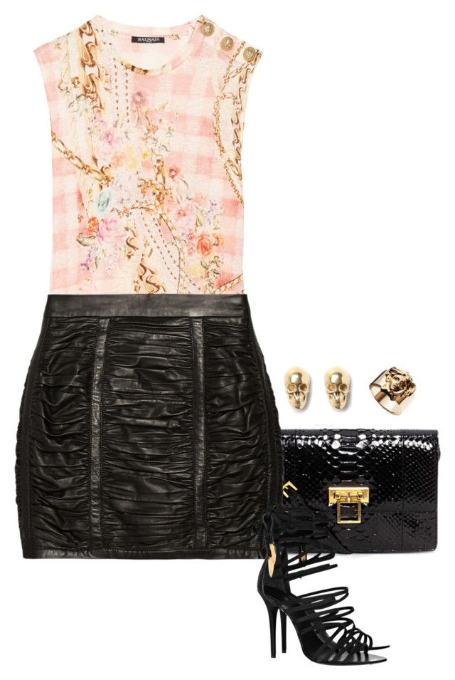 """""""Rebel With A Cause."""" by foreverforbiddenromancefashion ❤ liked on Polyvore featuring Alexander McQueen, Balmain, Giuseppe Zanotti, LeiVanKash, PartyWear, birthday, AlexanderMcQueen, GiuseppeZanotti and balmain"""