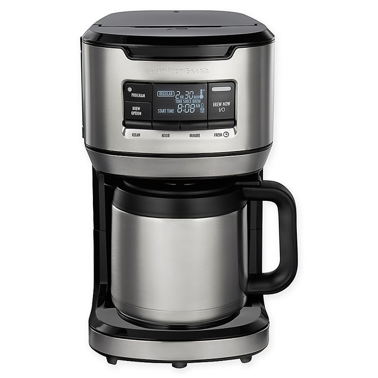 Hamilton Beach 12 Cup Front Fill Thermal Coffee Maker In Black Thermal Coffee Maker Coffee Maker Coffee