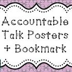 Accountable Talk Posters + Bookmark {Freebie} I have the posters on the wall for whole group discussion and the bookmarks I have copied on color pa...