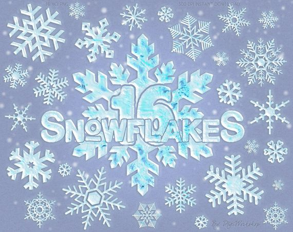 "#Snowflake Digital Clip Art #Clipart ""Frosty Snowflakes"" with #christmas images of snowflakes in white blue colors  This snowflake clip art contains 16 different x-mas element... #etsy #digiworkshop #scrapbooking #illustration #creative #clipart #printables #crafting #snowflake #xmas"