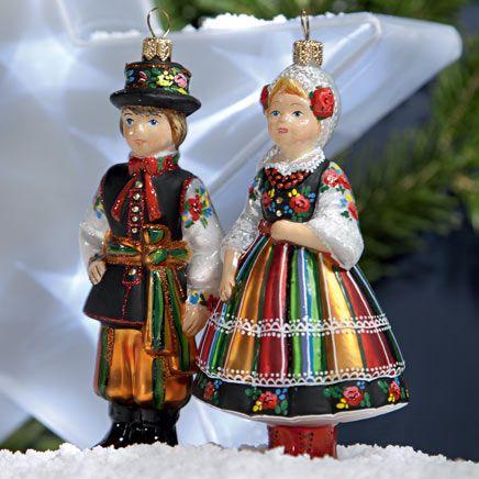 Zestaw bombek: Kolekcja Podhalańska, Łowicka lub Krakowska; ornaments from Poland