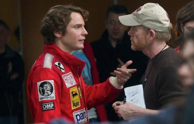 Here's the official movie trailer for the F1 racing movie RUSH. Click on the photo of Rush star Daniel Brühl with director Ron Howard to go to the video.