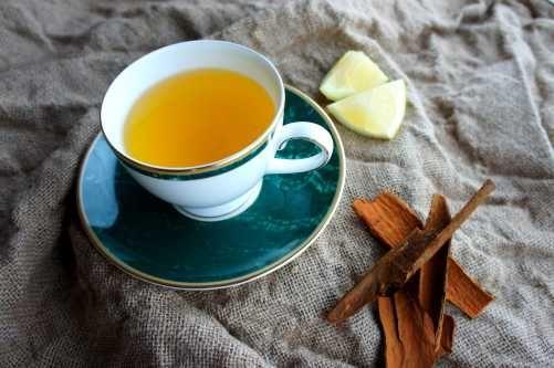 Cinnamon, lemon and ginger tea