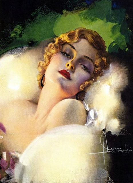 By Rolf Armstrong (1889-1960).                                                                                                                                                                                 More