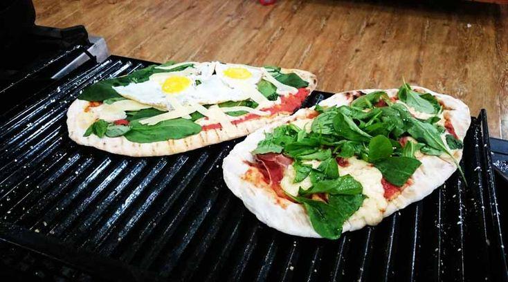 Pizzas a la parrilla x 3