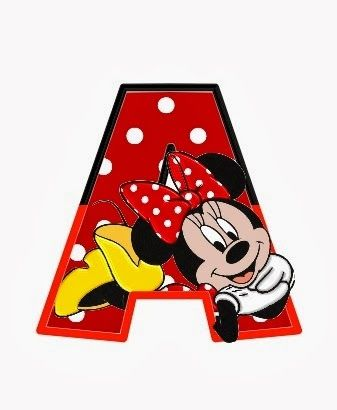 Original alfabeto de Minnie. | Oh my Alfabetos!