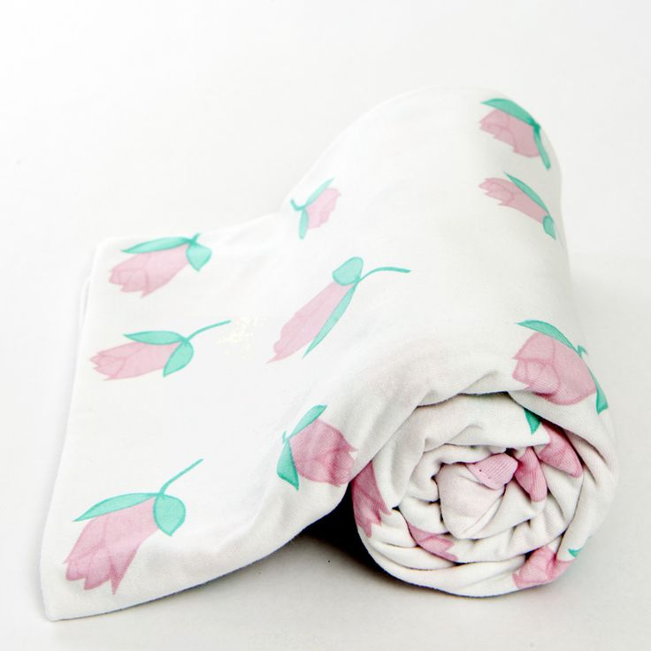Rose Jersey Swaddle