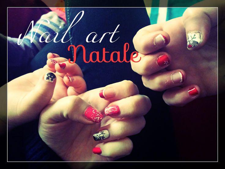 Nail art natalizie... anche per bimbe #nailart #smalto #unghie #nails #natale #nailartnatale #renna