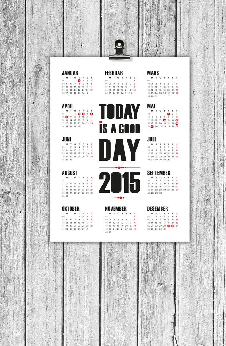Calendar 2015 made by Designparken. Kalender.  og design by Designparken. Follow on instagram @designparken
